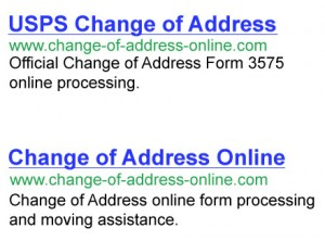 US Postal Address Change